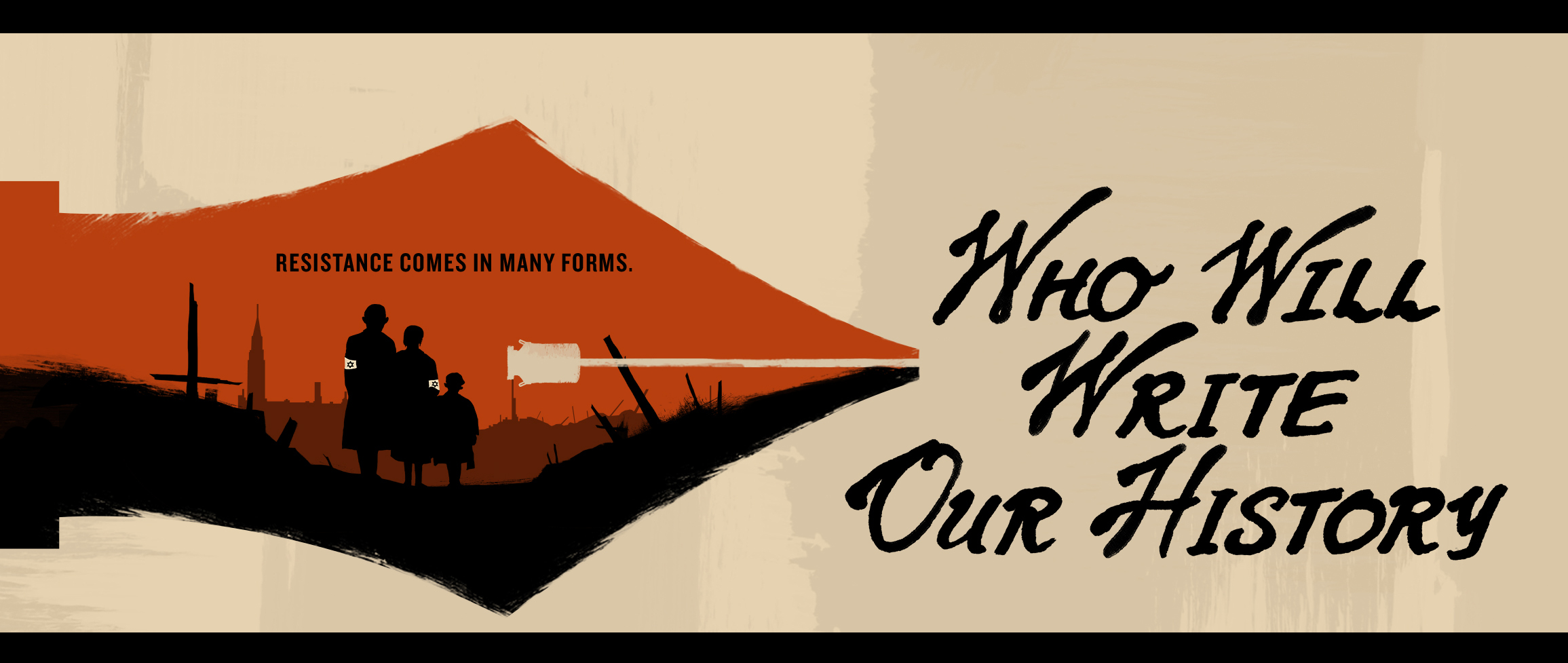 Who will write our history horizontal banner